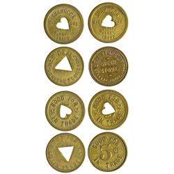 ID - Bonners Ferry,Boundary County - Quartet of Tokens