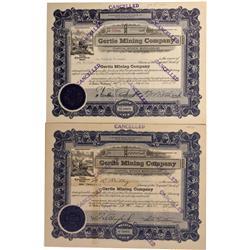 ID - Burke,Shoshone County - 1914,1941 - Gertie Mining Company Stock Certificate - Fenske Collection