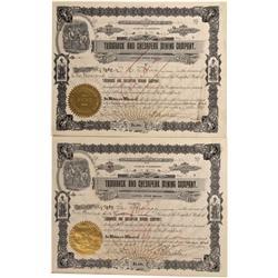 ID - Coeur D'Alene District,Shoshone County - 1897, 1900 - Tamarack & Chesapeak Mining Company Stock