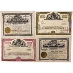 ID - Lelande District,Shoshone County - 1937-1975 - Hecla Mining Company Stock Certificate - Fenske