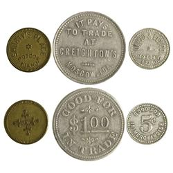 ID - Moscow,Latah County - Trio of Tokens