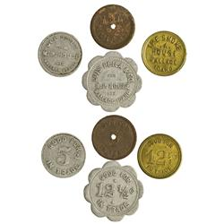 ID - Wallace,Shoshone County - Quartet of  Tokens