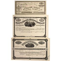 ME - 1880 - Maine Mining Stock Certificates - Fenske Collection