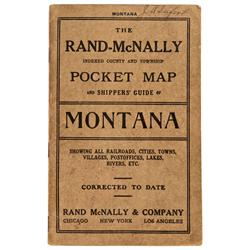 MT - 1914 - Montana Pocket Map - Gil Schmidtmann Collection