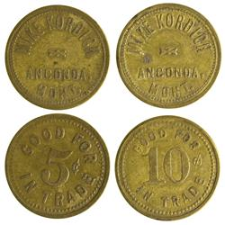 MT - Anaconda,Anaconda City/Deer Lodge County - Mike Kordich Tokens