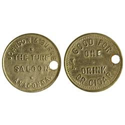 MT - Anaconda,Anaconda City/Deer Lodge County - Turf Saloon Token