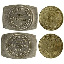 MT - Basin,Jefferson County - Eagle Bar/ Lehmann Dobler Tokens