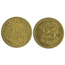 MT - Chinook,Blaine County - Montana Hotel Bar Token
