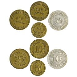 MT - Chinook,Blaine County - Montana Hotel Bar Tokens