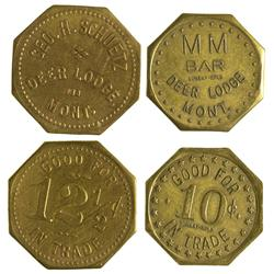 MT - Deer Lodge,Powell County - MM Bar/ Geo. H. Schuetz Tokens