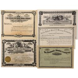 MT - Liberty County,1900 - Montana Mining Stock Certificate - Fenske Collection