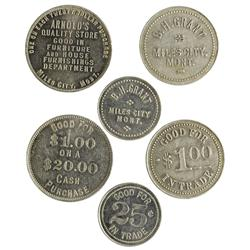 MT - Miles City,Custer County - Trio of Tokens