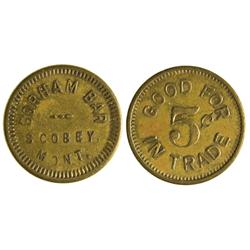 MT - Scobey,Daniels County - Pair of Tokens