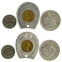 MT - Whitefish,Flathead County - Trio of Tokens