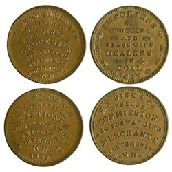 NH - Portsmouth,Rockingham County - 1837 - E. F. Sise/ William Simes Tokens