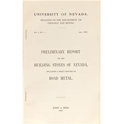 NV - 1904 - Bulletins  on Building Stones of Nevada - Gil Schmidtmann Collection