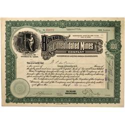 NV - Bovard,Esmeralda County - Nov. 30, 1909 - Bouvard Consolidated Mines Company Stock Certificate