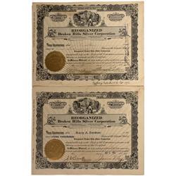 NV - Broken Hills,Mineral County - 1922, 1932 - Reorganized Broken Hills Silver Corporation Mining S