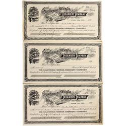 NV - Carson City,February 21, 1921 - California Nevada Creamery  Company Stock Certificates