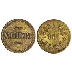 NV - Diamondfield,Esmeralda County - W. D. Deming Token - Gil Schmidtmann Collection