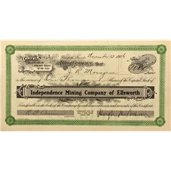 NV - Ellsworth,Nye County - 1906 - Independence Mining Company of Ellsworth Stock