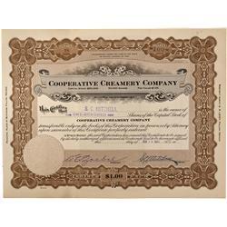 NV - Fallon,Churchill County - February 15, 1921 - Cooperative Creamery Company Stock Certificates