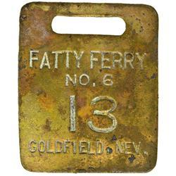 NV - Goldfield,Esmeralda County - Fatty Ferry Token - Gil Schmidtmann Collection