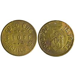 NV - Goldfield,Esmeralda County - Gold Bug Store Token - Gil Schmidtmann Collection