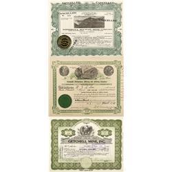 NV - Humboldt County,1911, 1946, 1954 - Humboldt Mining Stock Certificates - Fenske Collection