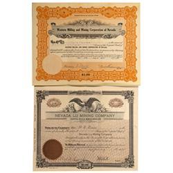 NV - Ludwig,Lander County - 1920, 1925 - Ludwig Area Mining Stock Certificates