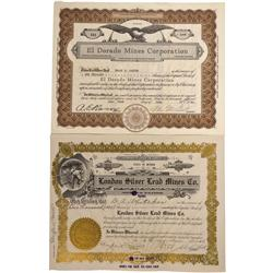 NV - Mineral and Esmeralda County,Marietta and Goldield Mining Area Stock Certificates