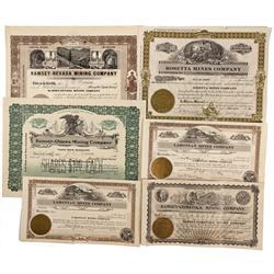 NV - Ramsey,Lyon County - 1908, 1909, 1910, 1934 - Ramsey Area Mining Stocks