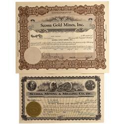 NV - Scossa,Pershing County - Scossa Area Mining Stocks