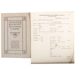 NV - Tonopah,Nye County - 1922 - Settlement Sheets Tonopah Belmont Development Co. - Gil Schmidtmann