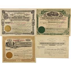 NV - Tonopah,Nye County - 1905, 1907, 1912 - Tonopah Mining Stocks - Fenske Collection