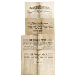 NV - Tonopah,Nye County - 1905, 1907, 1914, 1916 - Tonopah Newspapers - Gil Schmidtmann Collection