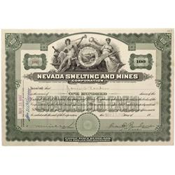 NV - Tybo,Nye County - Nevada Smelting and Mines Corporation Stock Certificate