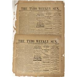 NV - Tybo,Nye County - 1879 - Tybo Weekly Sun Newspaper, The - Gil Schmidtmann Collection