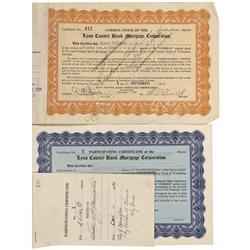 NV - Yerington,Lyon County - Oct 1, 1936 - Lyon County Bank Mortgage Corporation Certificates - Gil