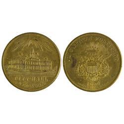 NY - New York,1856 - Spiel Marker Token