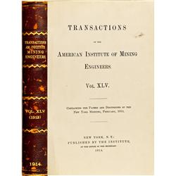 NY - New York,1914 - Transactions of the American Institute of Mining Engineers. Vol.  XLV Book - Gi