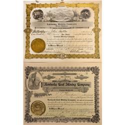 OK - 1907, 1923 - Oklahoma Mining Company Stock Certificates - Fenske Collection