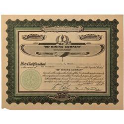 WA - 1928 - 96 Mining Company Stock Certificate - Fenske Collection