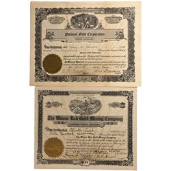 WA - 1912, 1928 - Washington Mining Stock Certificates - Fenske Collection