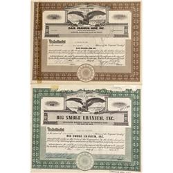 WA - 1955; 1956 - Washington Uranium Mines Stock Certificates - Fenske Collection