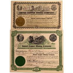 WA - Chewelah,Stevens County - 1902-1908 - Washington Copper Mining Stock Certificates - Fenske Coll