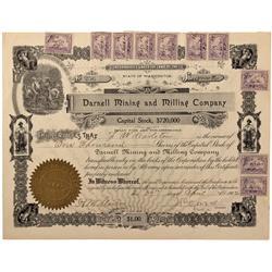 WA - Kalama,Colwitz County - 1901 - Darnell Mining and Milling Company Stock Certificate - Fenske Co
