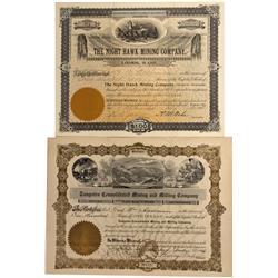 WA - Loomis,Okanogon County - 1902, 1907 - Loomis, Washington Mining Stock Certificate - Fenske Coll