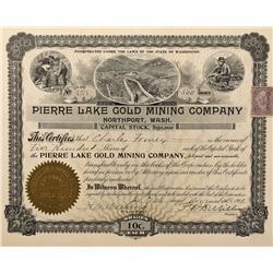 WA - Northport,Stevens County - 1901 - Pierre Lake Gold Mining Company Stock Certificate - Fenske Co