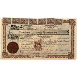 WA - Spokane,1900 - Pontiac Mining Company Stock Certificate